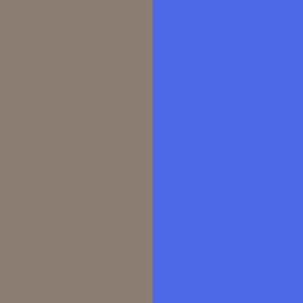 Taupe / Bleu
